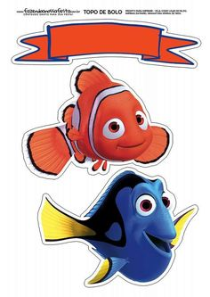 1 million+ Stunning Free Images to Use Anywhere Nemo Dori, Nemo Cake, Crochet Mittens Free Pattern, Disney Printables, Under The Sea Theme, Finding Dory, Digital Stamps, Disney Inspired, Cake Toppers