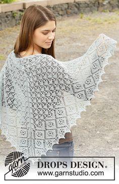 Baby Knitting Patterns, Lace Patterns, Lace Knitting, Crochet Patterns, Scarf Patterns, Knitting Tutorials, Drops Design, Graph Crochet, Hand Crochet