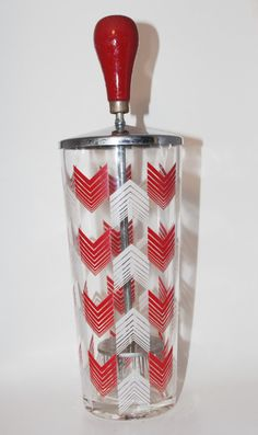 Vintage 1950s Barware Ice Crusher Red White by soldiersuzanne, $25.00
