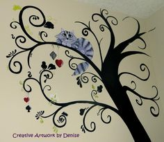 """A whimsical """"Alice in Wonderland"""" tree"""