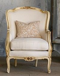 Vintage Shabby Cream Louis XV French Style Bergeres