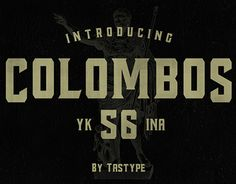 """Check out new work on my @Behance portfolio: """"Colombos Typeface"""" http://on.be.net/1OaLz7f"""