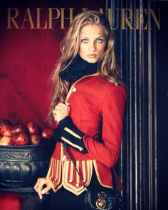 New RL ad Anna Selezneva, in my opnion, is the best choice for representing Ralph Lauren. I mean, just look at this picture she looks breathtaking! Ralph Lauren Style, Ralph Lauren Collection, Polo Ralph Lauren, Foto Fashion, High Fashion, Anna Selezneva, Blazers, Moda Boho, Vogue