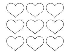 114 best Hearts images on Pinterest in 2018 | Printable heart ...