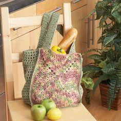 Lily® Sugar'N Cream® Crochet Reusable Grocery Bag - Not the best instructions for a beginner. MC = Main Color, A = Contrast Color, RS = Right Side, WS = Wrong Side