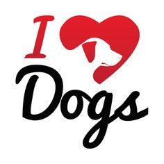 Awesome 'I+Love+Dogs...' design on TeePublic!