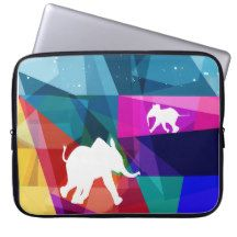"Playful baby elephant 15"" laptop sleeve fundas computadoras 