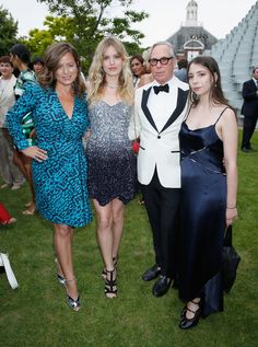 Jade, Georgia May Jagger, and Tommy and Elizabeth Hilfiger