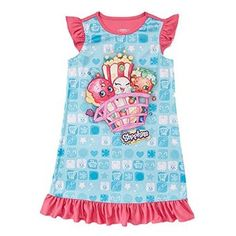 Shopkins Girls American Red White Blue 2-Piece Outfit Size 10//12 OR 14//16