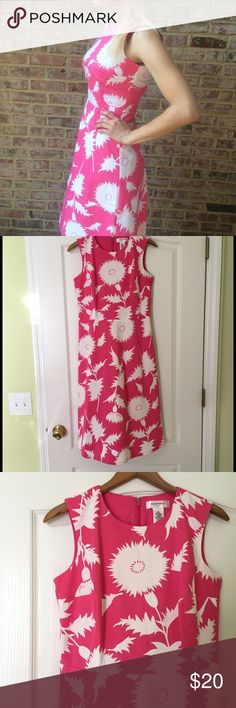 Pink and White Floral Dress Pink and White Floral dress from Issac Mizrahi for Target. Cute Easter, Rush week, or business casual dress. Fit and flare style with a zip up back. Worn once. 98% Cotton, 2% Spandex. Polyester and cotton lining. Isaac Mizrahi Dresses Midi