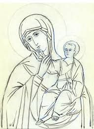 Image result for Icon of Panagia, Icon Mother and child, Mary and Jesus