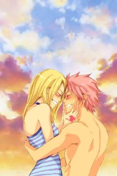 anime, fairy tail, and natsu image Fairy Tail Lucy, Fairy Tail Nalu, Fairy Tail Ships, Anime Fairy, Couples Fairy Tail, Fairy Tail Photos, Anime Kiss, Anime Nerd, Love Fairy