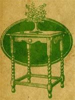 Free old plans for beautiful table stand