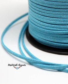 bleu turquoise brillant, un nouveau coloris pour le cordon lacet suédine