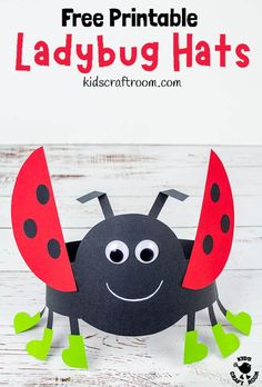 Isn't this Ladybug Hat Craft adorable? These ladybug headbands are really easy to make with the free printable ladybug craft template. Such a fun Summer insect craft for kids. Animal Crafts For Kids, Summer Crafts For Kids, Toddler Crafts, Headband Crafts, Hat Crafts, Craft Activities, Preschool Crafts, Kids Crafts, Disney Diy Crafts