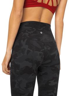 Lululemon incognito camo multi grey align hr leggings size 6 s, 2 Legging Outfits, Camo Leggings Outfit, Sporty Outfits, Athletic Outfits, Athletic Wear, Cute Outfits, Athletic Clothes, Camo Clothes, Cheap Leggings
