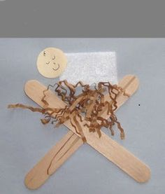 Easy Christmas craft, Baby Jesus in the manger