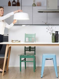 Berlin Design, Minimalist Kitchen, Holiday Traditions, Kitchen Interior, Office Desk, Scandinavian Design, Interiors, Furniture, Lighting