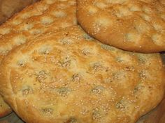 Lagana (laganes) for Clean Monday. How to bake a Lagana, a type of Greek flat bread Greek Bread, Tasty, Yummy Food, Greek Recipes, Lent, Flat Bread, Baking, Ethnic Recipes, Breads