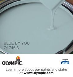 BLUE BY YOU OL746.3 is a part of the aquas collection by Olympic® Paint.