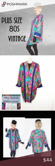 late fashion I just added this listing on Poshmark: Plus Size Vintage Floral Kimono Jacket,. Early 2000s Fashion, 80s Fashion, Fashion Tips, Fashion Trends, Navy Shawl, Plus Size Vintage, Floral Kimono, Kimono Jacket, Metallic Gold
