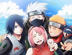 Team 7 Kakashi, Sasuke, Sakura and Naruto
