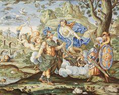 Francesco Antonio Saverio Grue, Mattone con Venere che consegna le armi ad Enea, 1738