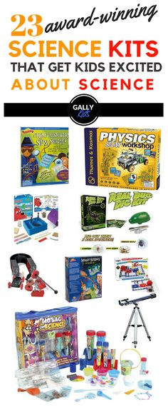 Award-winning science kits for kids. Great fits ideas.Some cool kits that you can use for Science projects and after-school activities. Also make for great Christmas or birthday gifts. #sciencekits