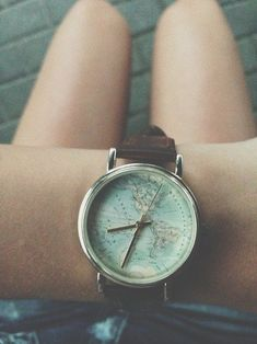 love this watch. it would be so fun to one day look at the watch and wherever the big hand is, you go there.