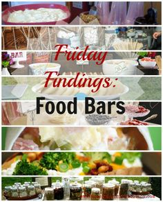 food bar ideas | Food Bars - ideas for breakfast, lunch, dinner, and snacks - great for ...