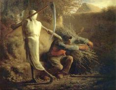 "Jean-François Millet (1814-1875) ""Death and the Woodcutter"" (1859) Realism"