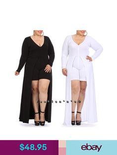 Plus Size Romper Maxi Dress Mini Shorts Jumpsuit Open Front Long Skirt Plus Size Romper, Short Jumpsuit, Mini Shorts, Couture Dresses, Ebay Clothing, Rompers, Skirts, Clothes, Accessories
