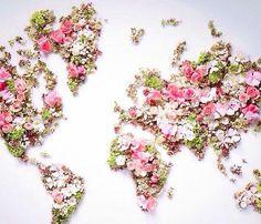 World map ☆ flower world