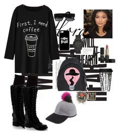 """Coffee is always a good idea"" by nelliekhachatrian on Polyvore featuring Hue, Topshop, L'Oréal Paris, LEFF Amsterdam, Fendi, Eugenia Kim, Nature Breeze, Casetify and Dot & Bo"
