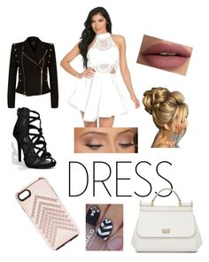 """""""Untitled #19"""" by sunkistwillow ❤ liked on Polyvore featuring Balmain, Dolce&Gabbana, Anastasia Beverly Hills and Rebecca Minkoff"""