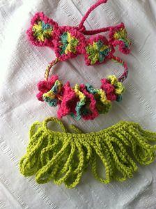 Hula Baby - Crochet Photo Props. 10 free crochet photo prop patterns