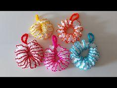 Beyaz-Pembe-Sarı-Yeşil - Çeyizlik-Kolay Lif modeli-Lif örnekleri-Simit Lif - (ORTAK TASARIM ) - YouTube Thick Yarn, A Hook, Yarn Shop, Yarn Over, Crochet Fashion, Pink Yellow, Bagel, Crochet Hooks, Crochet Projects