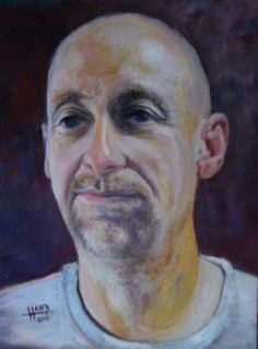 JOHN .. an oil painting by Greg Hand