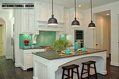 Stylish interior with turquoise accents