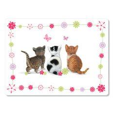 Deska do krojenia szklana Flower Kittens