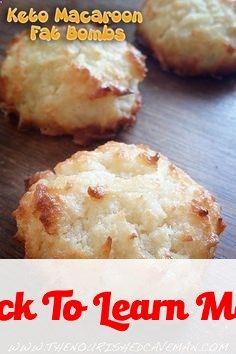 Keto Macaroon Fat Bombs And 4 Perfect Reasons For Eating Them #health #fitness #weightloss #healthyrecipes #weightlossrecipes