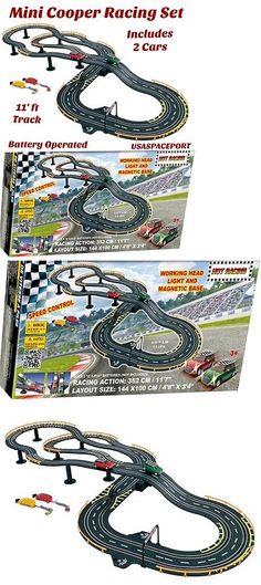 other slot cars 776 kids rc mini cooper road racing set 11 track
