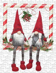 Christmas Gnome, Christmas Art, Christmas Decorations, Christmas Ornaments, Christmas Items, Emo, Frame Clipart, Christmas Paintings, Illustrations