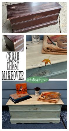 ART IS BEAUTY: Themed Furniture Makeover! Distressed Cedar Chest Makeover