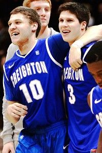 Celebrating after a win - Grant Gibbs & Doug McDermott Creighton Basketball, Doug Mcdermott, Creighton University, Hi Boy, My Favorite Part, Favorite Things, Great Team, Blue Jay, I School