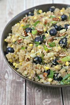 Quinoa Pilaf with Fresh Summer Corn and Blueberries
