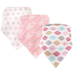 Hudson Baby is a premium baby brand focused on offering fashion forward clothing, bath, bedding and feeding solutions. Hudson Baby Bandana Bib 3 Pack are an adorable way to help keep your baby's clothes clean during meals. Made of 100% cotton, these bibs are backed with knit terry to remain gentle and absorbent. These bibs have a snap closures so bibs the stay on.<br><br>The Hudson Baby Girls Aztec 3 Pack Bandana Bib Features:<br><ul><li>100% cotton</li><br><li>Super soft cotton…
