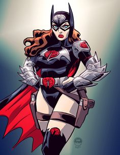 Bat Baroness, a Mashup of the Baroness and Bat Woman by Eryck Webb Graphics