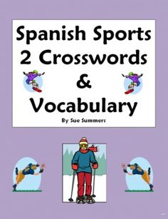 Spanish Sports 2 Crosswords Images & Word List - Substitute Lesson