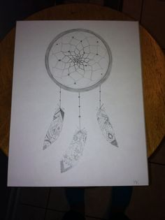 Dream catcher with Aztec print feathers